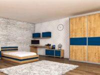 חדר אביב כחול