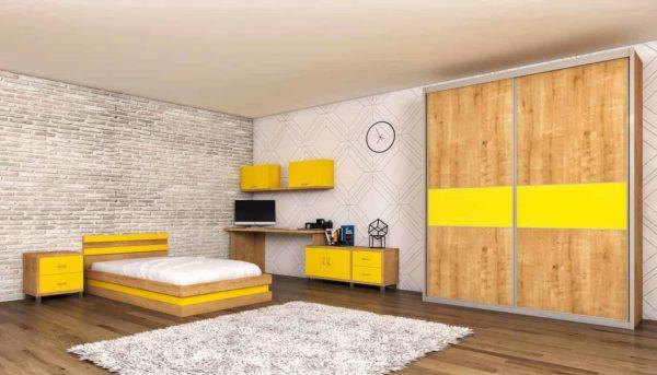 חדר אביב צהוב